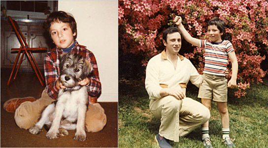 Сергей Брин в детстве с отцом