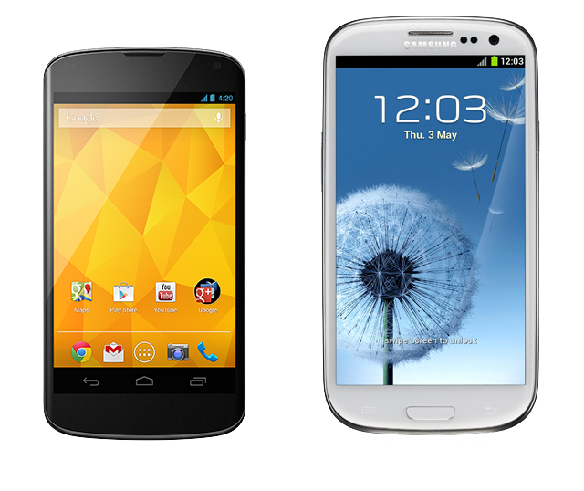 Nexus 4 vs Galaxy S III