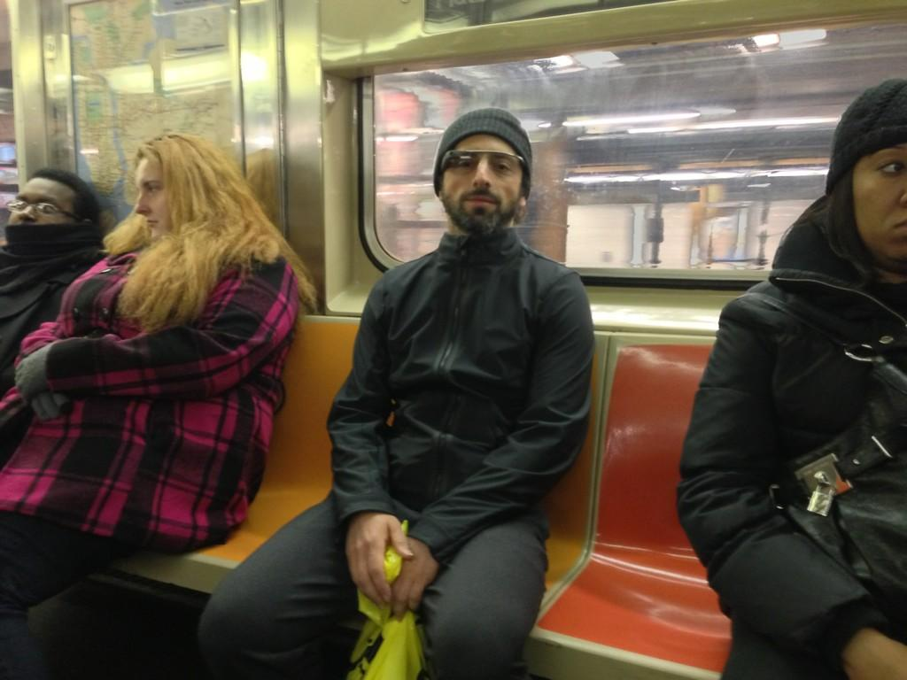 Sergey Brin metro