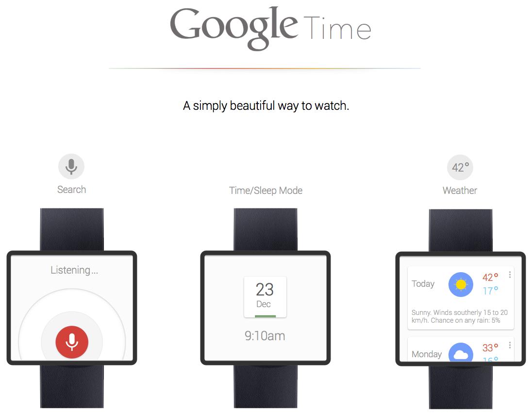 Часы Google Time