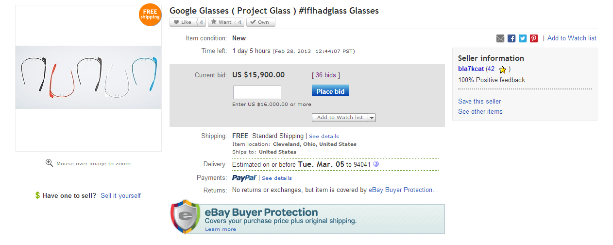 Ebay Google Glass
