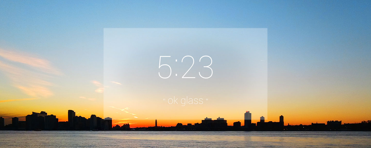 Google Glass sunset