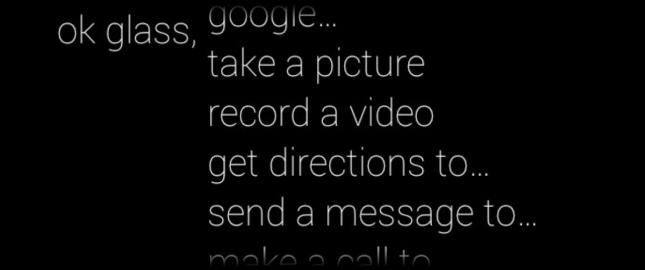 Google Glass Voice Commands