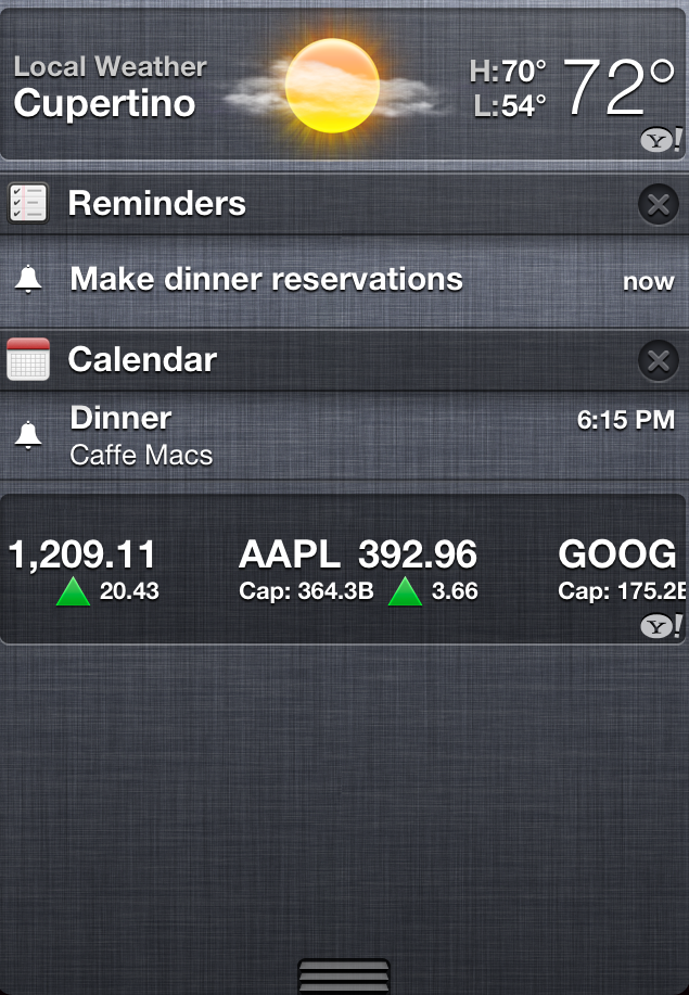 notification center ios