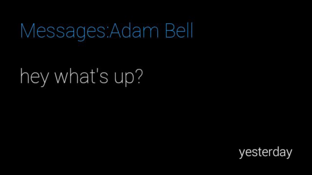 adam bell message