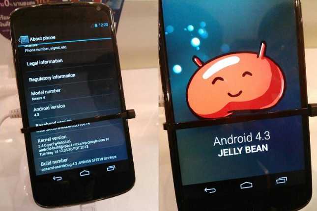 android 4.3 nexus 4 jelly bean