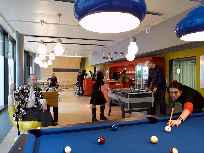 Офис Google в Цюрихе. Игровая зона