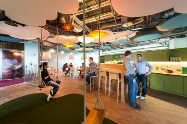 Офис Google в Дублине. Разговор в кафе