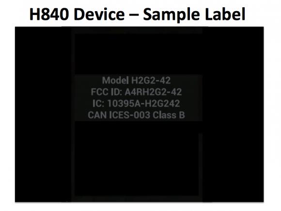 google h840 label