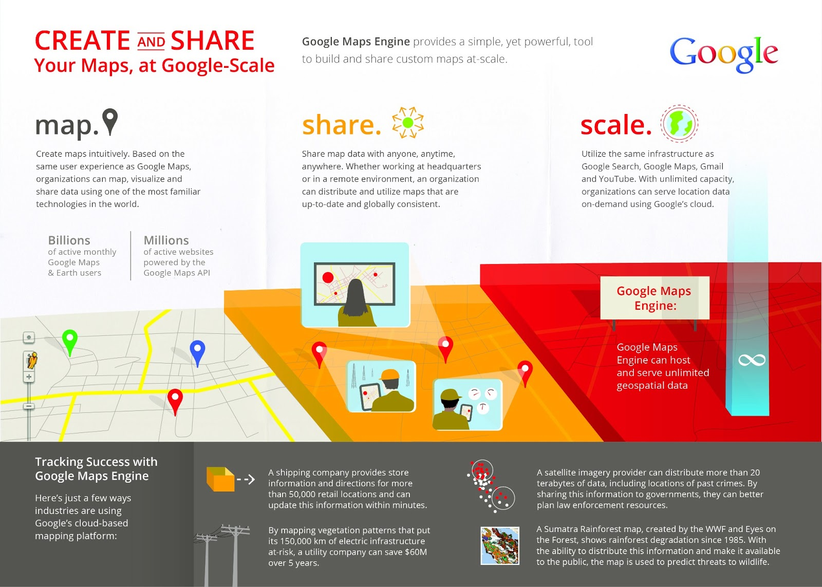 Google map engine infographic