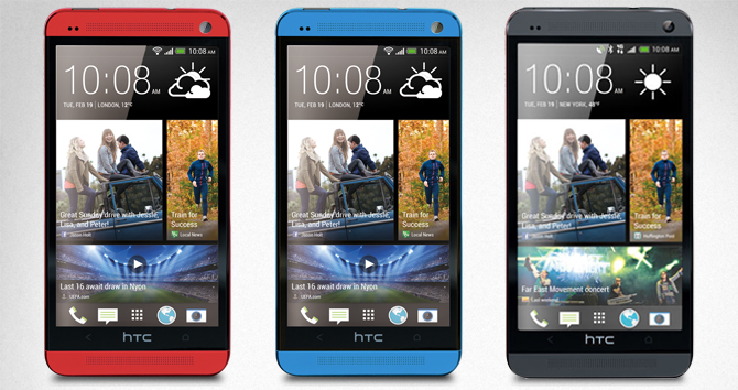htc one blue red