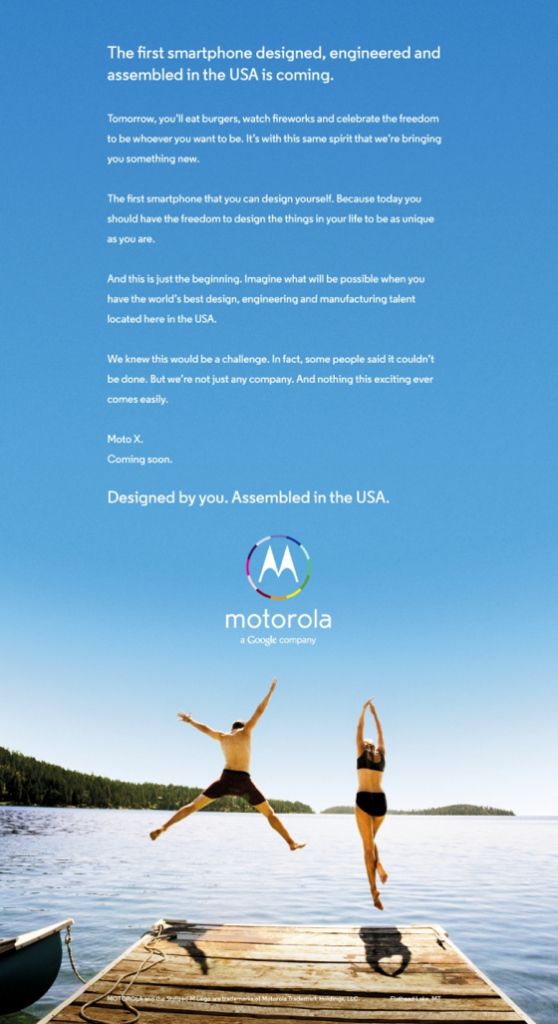 Moto X ads reklama