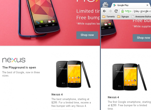 Play Nexus 4 first best