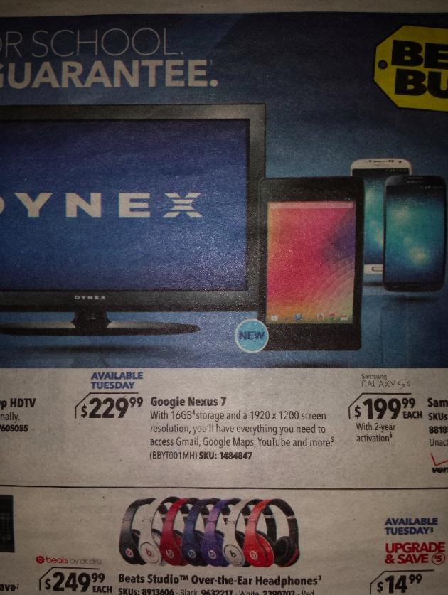 best buy ad nexus 7
