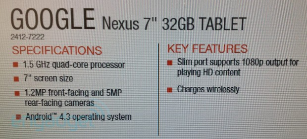 nexus 7 product info