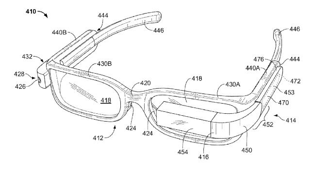 Google Glass Hipster Edition patent