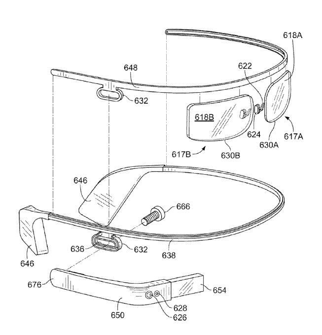 Google Glass modul patent