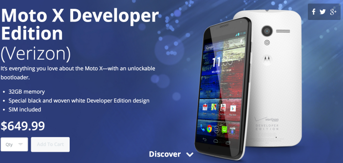 Moto X Developer Edition come