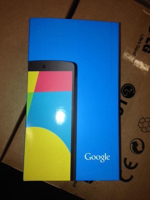 Nexus 5 LG wh box