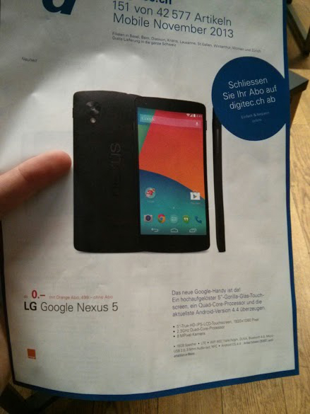 lg google nexus 5 switzerland