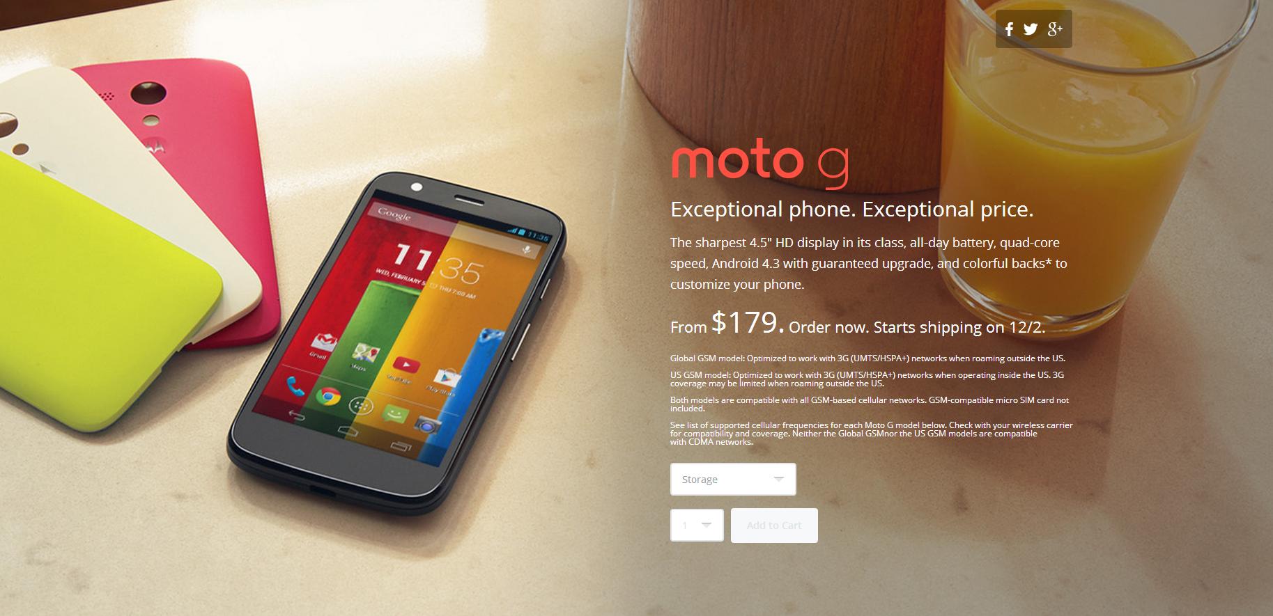 Moto G buy
