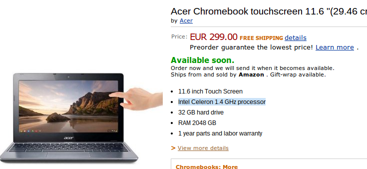 acer touchscreen chromebook