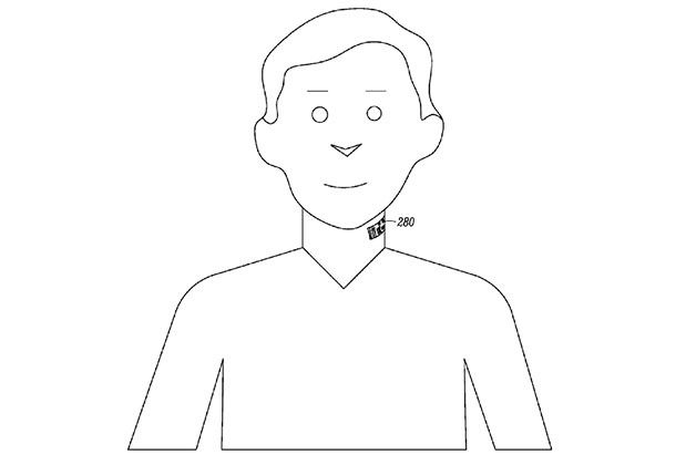 motorla tattoo patent skin microphone