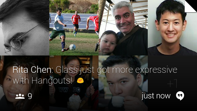 XE12 Glass Hangouts