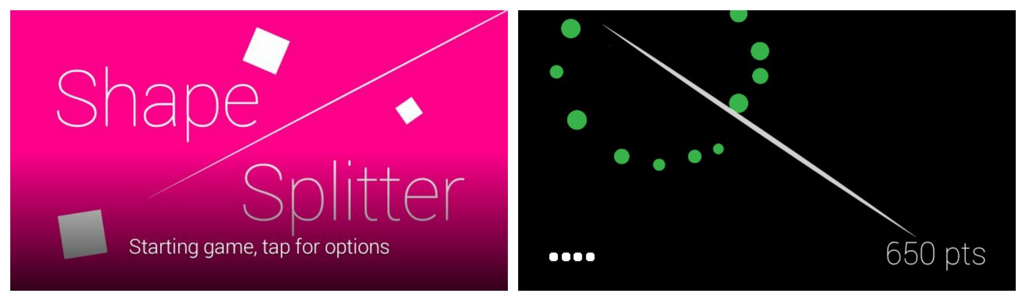 Shape Splitter Glass mini-game