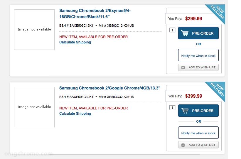 B&H Samsung Chromebook 2