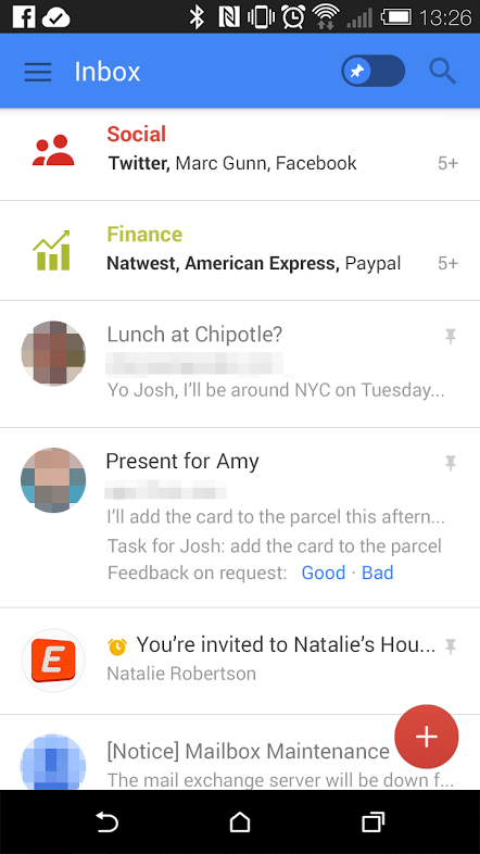 New Gmail Android 2