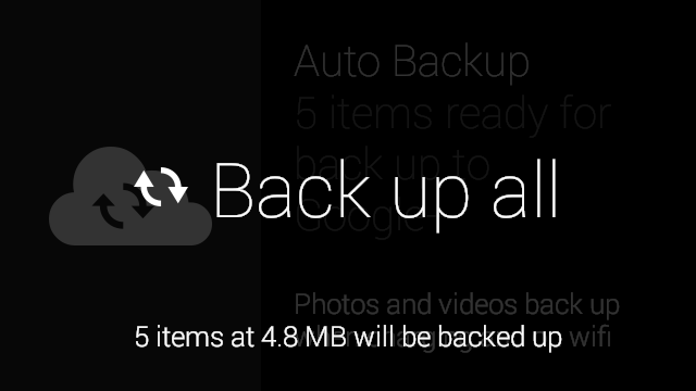back up all
