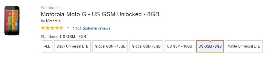 Moto G Universal LTE