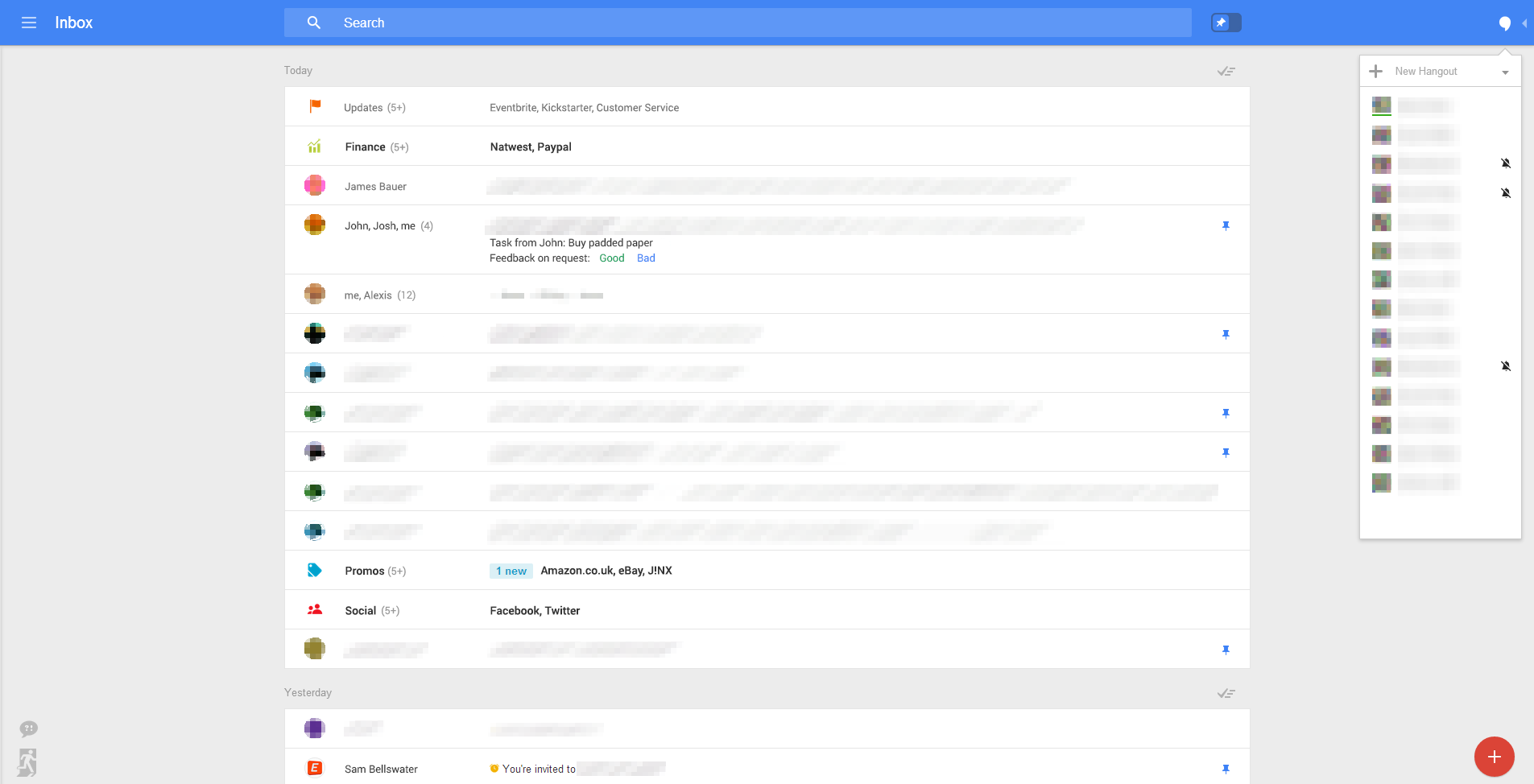 New Gmail web UI 2