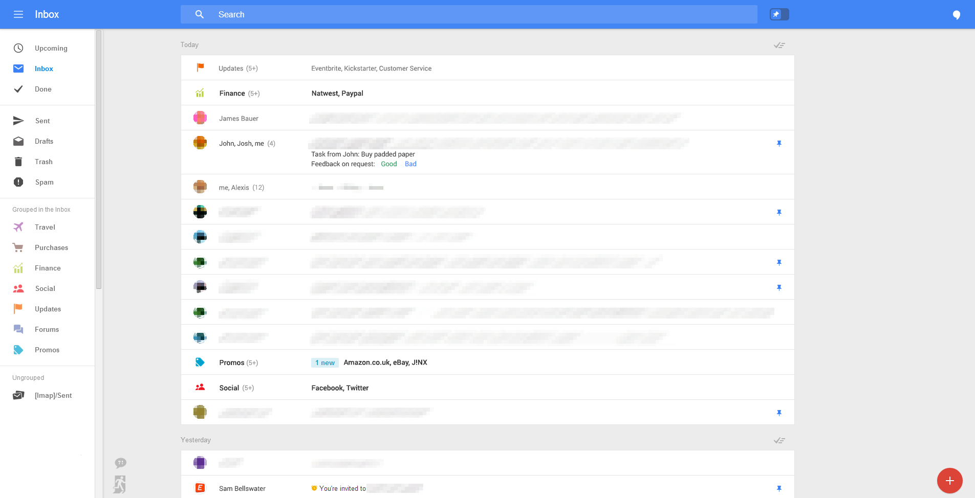 New Gmail web UI
