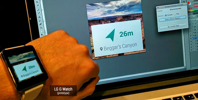 LG G Watch hand