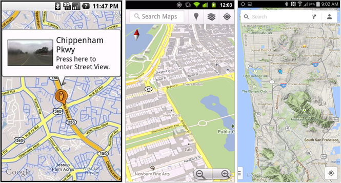 Maps updates