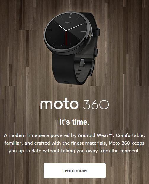 Moto 360 promo