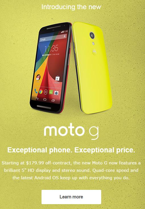 Moto G new