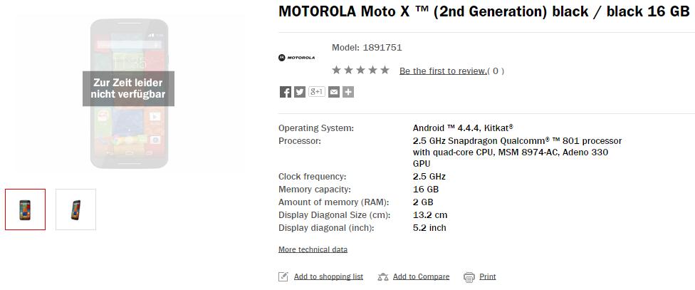 Moto X 2 generation