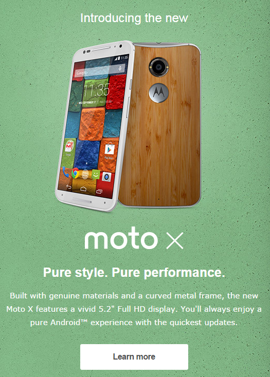 Moto X new