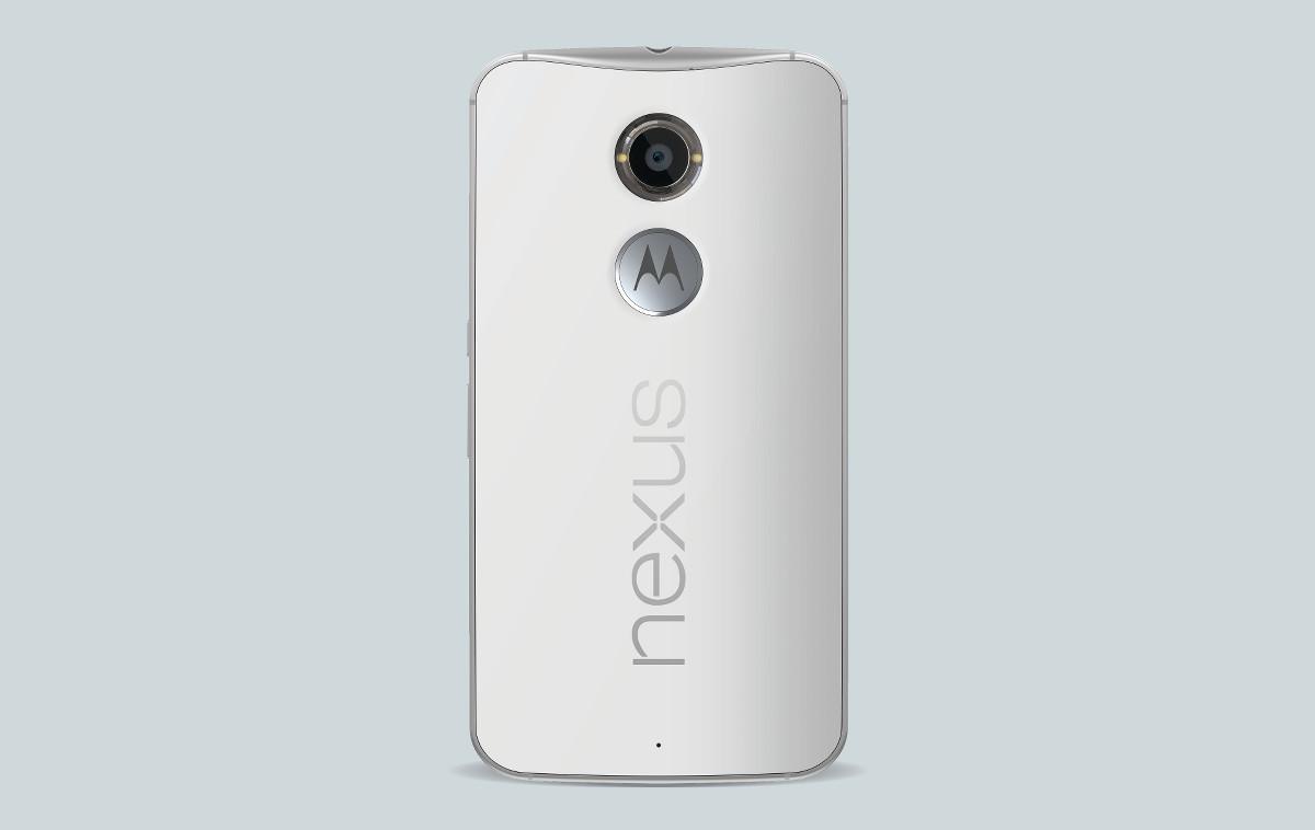 nexus 6 white back